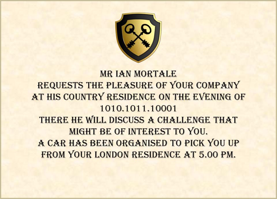 Mortale's Challenge the invitation